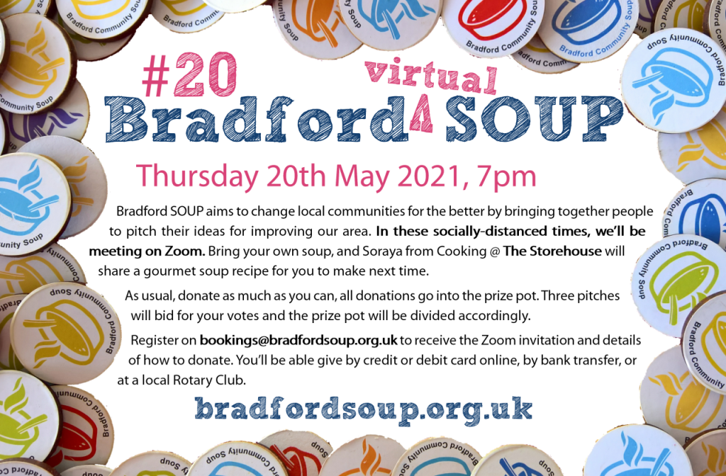 Flier for Bradford SOUP #20 event, text below